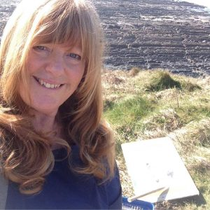 Sue Read, Cornish artist in the outside studio