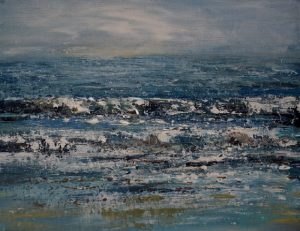 Blustery Northcott Mouth Seascape painting