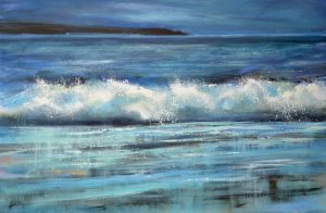 Caught in the Moonlight, seascape by cornish artist, Sue Read