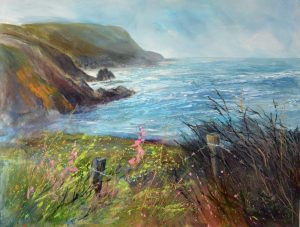 Large commission of Cornish North Coast by Sue Read Artist