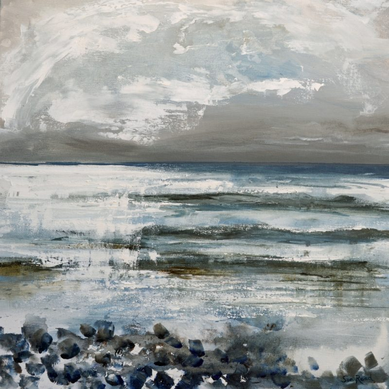 Cornish winter seascape giclee print