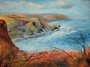 Millook Haven painting by Sue Read