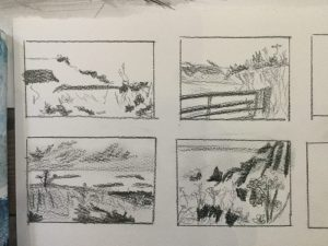 students thumbnails of landscape