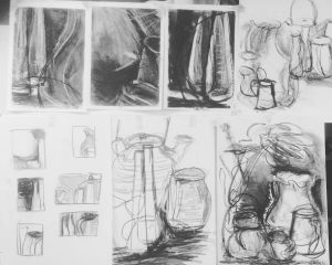 sketches from St Ives School of Painting course