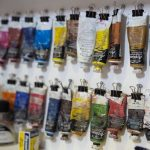 Oil paint display rack