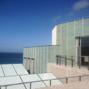 New tate extension with tiles colour of the sea