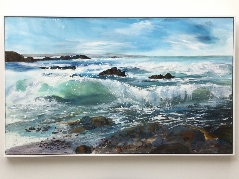 cornish seascape painting Duckpool
