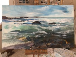 stage 2 of a cornish seascape