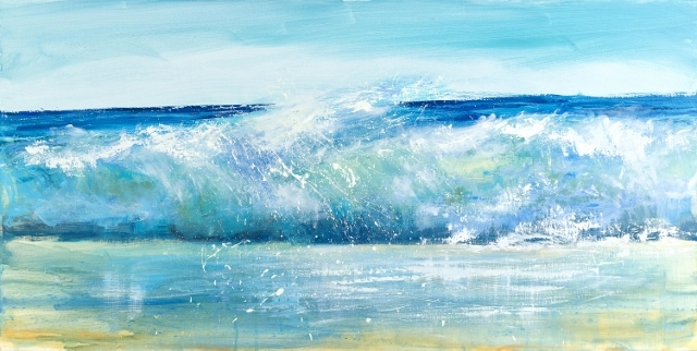Surf art Cornwall, Wave painting Cornwall, Cornish artist, Painting of cornish waves, North cornwall artist, Breaking wave Cornwall, Bude artist, Bude painting, Sue Read artist, Sue Read Art,