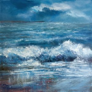 Wave painting, seascape of Cornwall