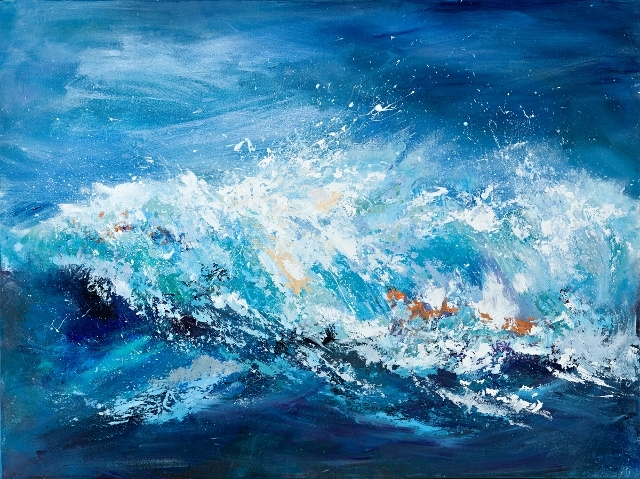 sue read cornish artist abstract wave painting cornwall