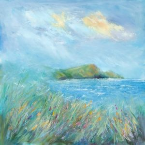 Crackington Haven oil painting seascape and coast. Cornwall coast painting, Cornish artist, Cambeak, Crackington Haven