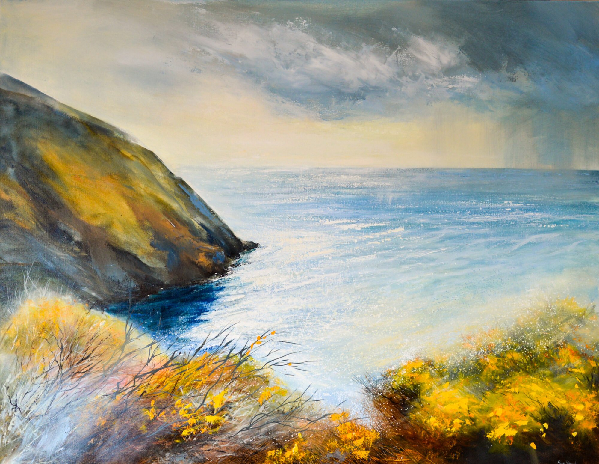 Cornwall art, cornish artist, cornish coast, seascape painting, coastal art cornwall