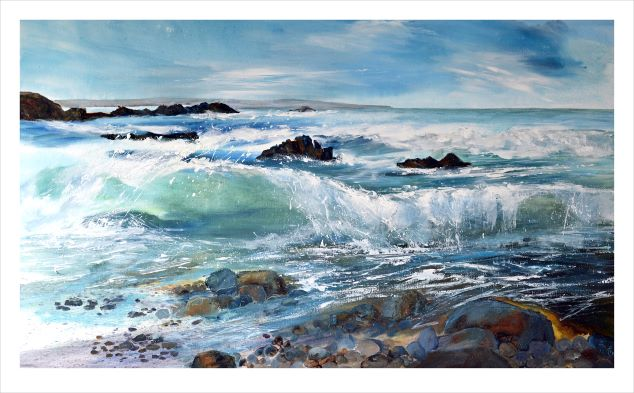 Duckpool, cornwall art, cornish artist, seascape cornwall