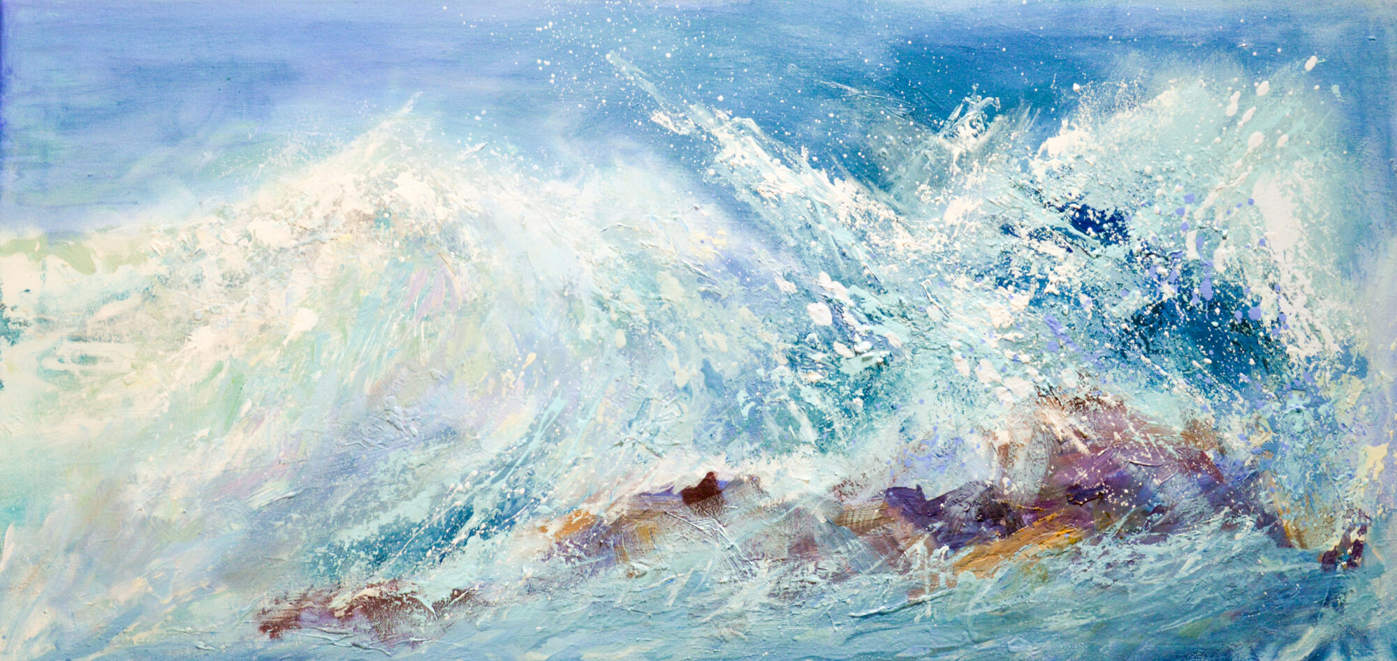 wave painting, Cornwall surf, Cornwall art
